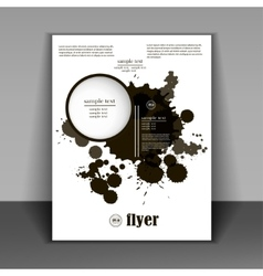 booklet in a minimalist style with black spots vector image