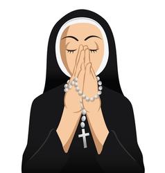 Catholic nun praying vector image