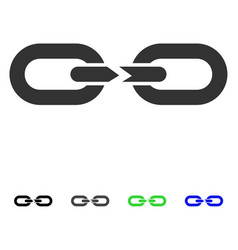 chain break flat icon vector image vector image