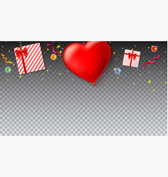 red inflatable balloon in the shape of a heart vector image vector image