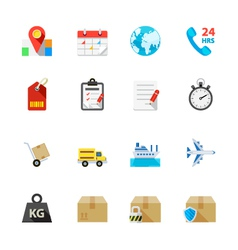 Shipping and Logistics Icons vector image vector image