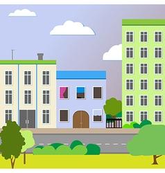 Sleek design a city street vector image