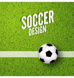 Soccer background witn green grass Football sport vector image