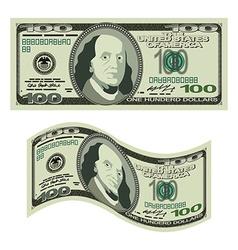100 dollars on white background Money isolated US vector image