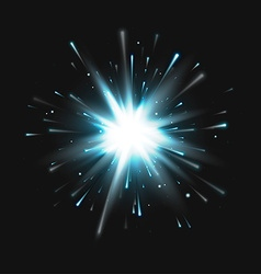 Blue Explosion vector image