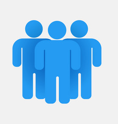 blue people group teamwork concept business icon vector image