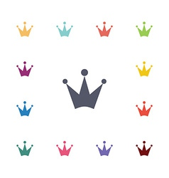 crown flat icons set vector image vector image