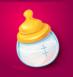 milk baby bottle illlustration vector image