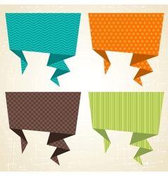 origami background Banner and speech bubbles vector image