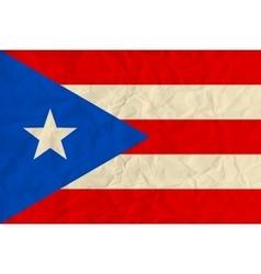 Puerto-Rico paper flag vector image