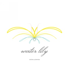 water lily lined icon vector image