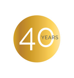 40th anniversary gold banner template fortieth vector