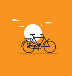 a bicycle vector image
