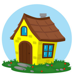 A fabulous house in cartoon style on theme of vector