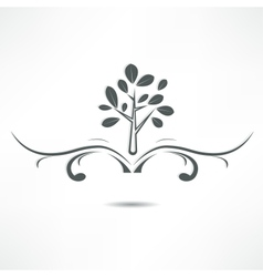 abstract tree icon vector image