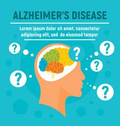 alzheimers disease concept background flat style vector image