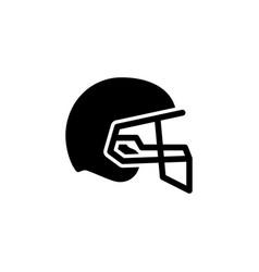 american football helmet glyph icon vector image
