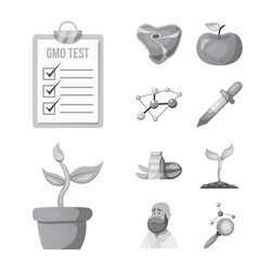 and icon set of and s vector image