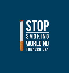 Background world no tobacco day vector