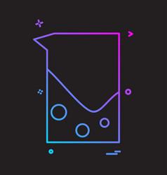 beaker jug icon design vector image