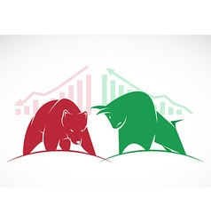 Bears and bulls vector