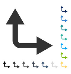 Bifurcation arrow right up icon vector