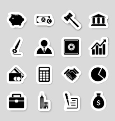 Business icons stikers vector