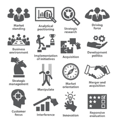 Business management icons Pack 27 vector
