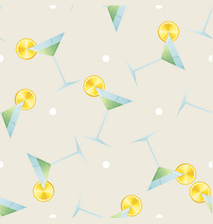 Citrus drink print seamless pattern cocktail vector