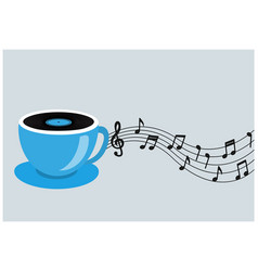 coffee or tea and music vector image
