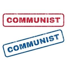Communist rubber stamps vector