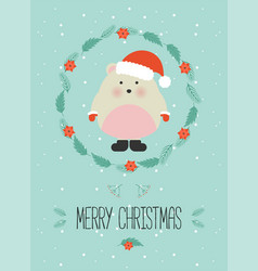 cute christmas woodland character merry christmas vector image