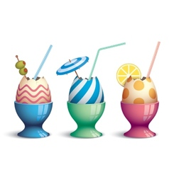 Easter cocktails vector image