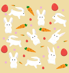 easter rabbit pattern holiday flat style vector image
