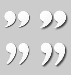 Eps10 blank white paper quotation marks vector