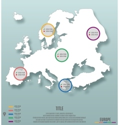 europe continent template for infographics vector image