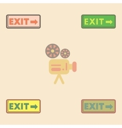 Exit way sign Collection in vector