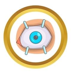 Eye procedure icon vector