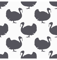 Farm bird silhouette seamless pattern Turkey meat vector image