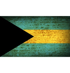 Flags Bahamas with dirty paper texture vector image vector image