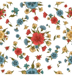 Floral Background Flowers Seamless Pattern vector image