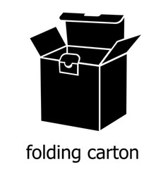 folding carton icon simple black style vector image