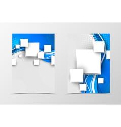 Front and back digital flyer template design vector image