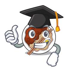 Graduation jajangmyeon in a cartoon shape vector