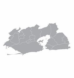 Greater rio de janeiro silhouette map vector
