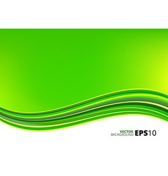 Green and white waves package background vector