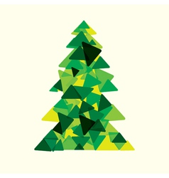 green christmas tree vector image
