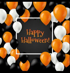 halloween card with balloons vector image