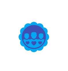 Happy customers icon badge vector