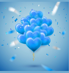 happy valentines day background blue balloon in vector image